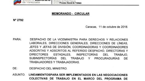 Reaccionan contra memorándum 2792 del Ministerio del Trabajo